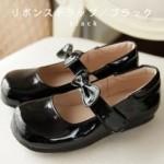 リボンストラップ靴
